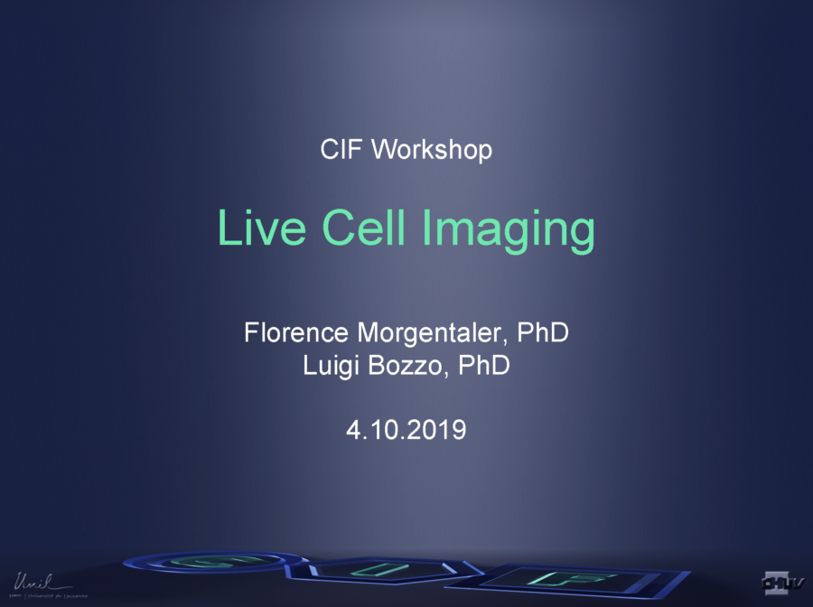 Live Cell Imaging [Florence Morgenthaler, Luigi Bozzo, 2019]